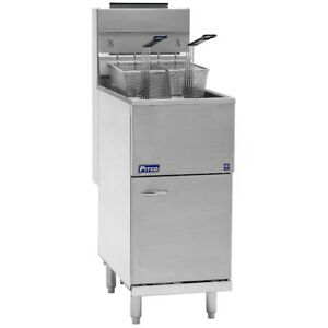 Single Tank Double Basket 35c Pitco Fryer Chips Fryer Commercial catering Use
