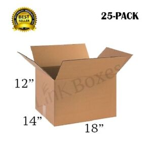 18x14x12 Packing And Shipping Boxes Pratt Brand For Moving 25 Pack