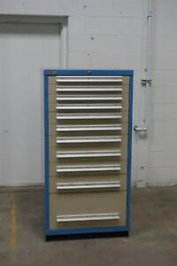 Used Lyon 11 Drawer Cabinet Industrial Tool Storage 1328 Vidmar