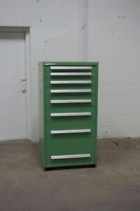 Used Stanley Vidmar 8 Drawer Cabinet Industrial Tool Box Storage 1324