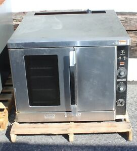 Two Hobart Double Stack Commercial Convection Ovens Model Hec 60 Pair
