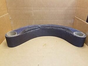 Lot Of 5 Pcs Sancap Abrasives 4 X 72 36 Grit Aluminum Oxide Sanding Belts