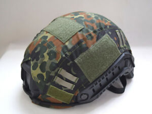 Tactical Series Airsoft Paintball Gear  Fast Helmet Cover German Flecktam Color