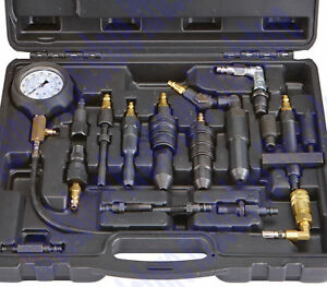 Diesel Compression Tester Tool Set 0 1000 Psi 0 70 Bar Gauge