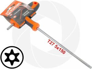 T27 T Handle Torx Security Hole Pin 6 Point Star Key Crv Long Screwdriver Wrench