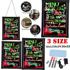 New Flashing Illuminated Erasable Neon Led Message Menu Writing Sign Board Lot