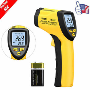 Non contact Lcd Ir Laser Digital Temp Thermometer Gun W K type 58 f 1022 f Us