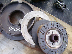 Vintage Ford 4000 Diesel Tractor Select O Speed Clutch Parts 1962