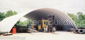 Durospan Steel 40x74x18 Metal Building Arch Structure Open Ends Factory Direct