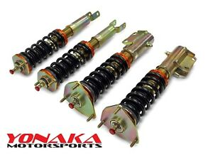 Yonaka 01 07 Lancer Evo 7 8 9 Lowering Performance Coilovers Race Track Vii Viii