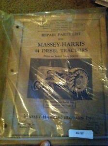 Massey Harris 44 Diesel Tractor Parts Manual Prior To 50001