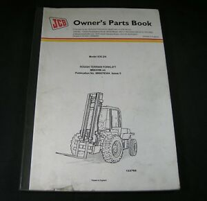 Jcb 930 2 Le And 930 4 Le Rough All Terrain Forklift Part Manual Book Lift Truck