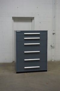 Used Vidmar 6 Drawer Cabinet Industrial Tool Storage 45 Wide 1338