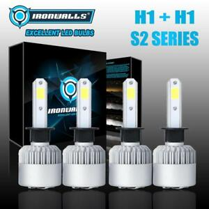 Combo Led Headlight Bulb Kit H1 H1 1500w Hi Low Beam 6500k For 2003 2008 Mazda 6