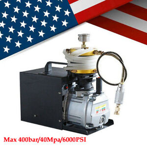 110v High Pressure Air Pump Electric Pcp Compressor Fit Airgun Scuba Rifle 30mpa