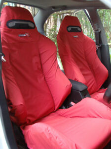 Honda Integra Type R Dc2 Recaro Seats Cover Set 2 Pcs red