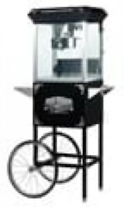 Lincoln Black 6005 8 oz Antique Popcorn Machine And Cart