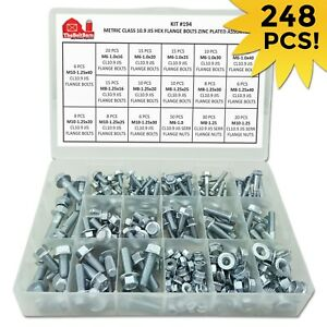Metric Grade 10 9 Jis Hex Flange Cap Screws Frame Bolts Lock Nuts Assortment