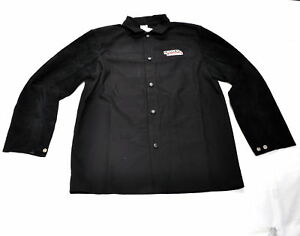 Lincoln Electric K3106 l Traditional Split Leather Sleeved Welding Jacket Large