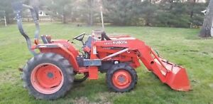 Kubota L3000dt Mfwd With Loader Tractor Bucket clutch Issues