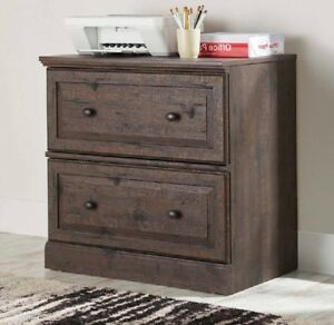 Lateral File Cabinet 2 Drawer Wood Office Filing Storage Legal Letter Folder Two