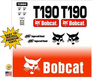 T190 T 190 New Decal Kit Sticker Set Skid Loader Skid Steer Fits Bobcat