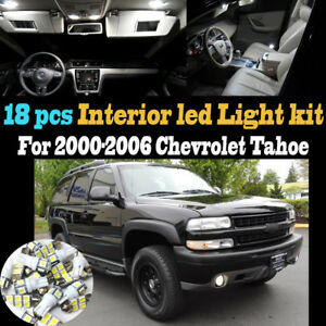 18pcs 6000k White Interior Led Light Bulb Kit Package For 2000 2006 Chevy Tahoe