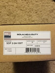 New In Box Sola Sdp2 24 100t Power Supply 120v Input 24vdc Output 2 1a