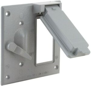 Weatherproof Toggle gfci Cover Bell 1gang Made From Rugged Metallic Construction