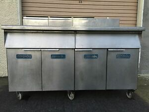 Imperial 3 Bay Natural Gas Fryer please Read Description Carefully For Details