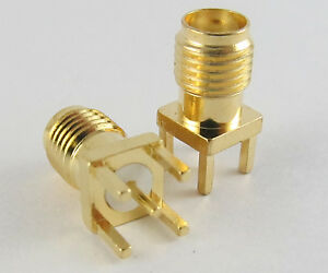 500 Pcs Gold Sma Female Jack To Pcb Board Mount Coaxial Solder Rf Connector Ss