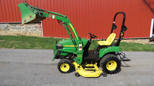 2010 John Deere 2305 4x4 Compact Utility Tractor W Loader Mower Hydro 700 Hrs