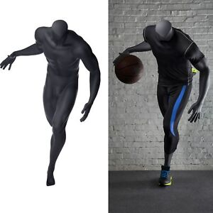 Male Headless Full Body Sports Athletic Basketball Mannequin W Base