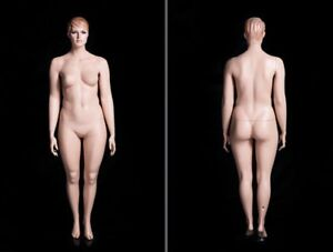 Female Realistic Full Body Plus Sized Mannequin W Molded Hair And Base