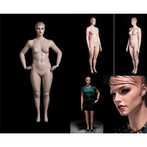 Female Realistic Full Body Plus Sized Mannequins group Of 3 Bases Included