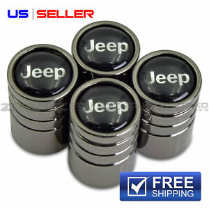 Valve Stem Caps Wheel Tire Black For Jeep Us Seller Ve15