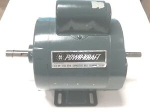 Powercraft 1 2 Hp Double Ended Shaft Electric Motor 1725 Rpm 115 230v 1 Phase