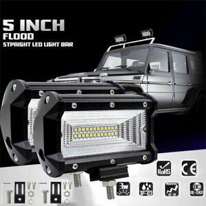4x 5 Cree Led Pod Work Rv Light Bar Flood Beam Off Road Driving Fog Lights 12v