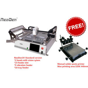 Special Offer Smt Neoden3v Pick And Place Robot Plus Free Charge Solder Printerj