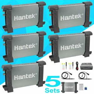 5 Pack Hantek 6022be Pc Based Portable Fft Oscilloscope 2 Channels 20mhz 48msa s