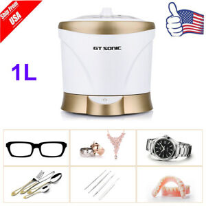 1l Stainless Steel Ultrasonic Cleaner Jewelry Glasses Watch Coffee Cups Cleaning