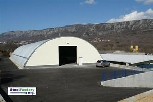 Steel Metal Arch Roof Quonset 42x90x17 Construction And Equipment Storage Cover