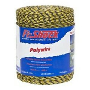 Fi shock Pw1320y6 fs 6 strand Fence Wire 1320 Ft L Plastic