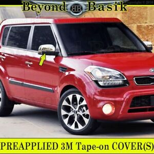 For 2010 2011 2012 Kia Soul Triple Chrome Mirror Covers Top Overlays Trims Abs