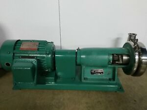 Ladish Tri clover Sp216 Centrifugal Pump Sp216ma s Stainless Steel1hp Base Mount