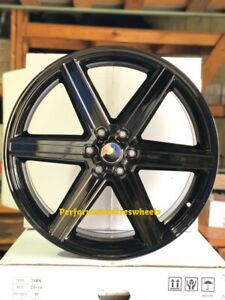 4 New Iroc 22x9 5 6x5 5 20 Black Machine Wheels Chevrolet Gmc Silverdao Tahoe