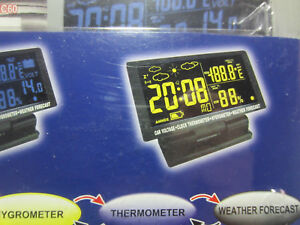 Digital Car Thermometer Ice Alert Voltage Monitor Battery Voltage Truckers
