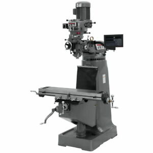 Jet 691191 Jtm 1 Mill With 3 axis Newall Dp700 Dro quill With X axis Powerfeed