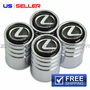 Valve Stem Caps Wheel Tire Chrome For Lexus Us Seller Ve18