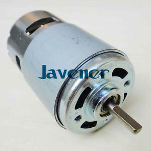 12v Dc Motor 11000rpm Oblate D Style Axle Generator Diy Torque 45kg cm Bearing